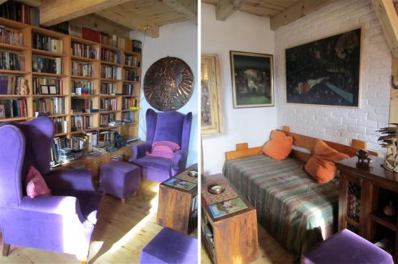гостиная в доме из соломы и камыша: Экодом своими руками